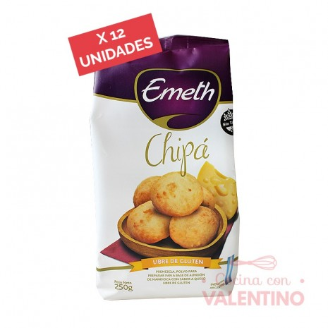 Premezcla de Chipa Sin Tacc Emeth - 250Grs - Pack 12 Un.