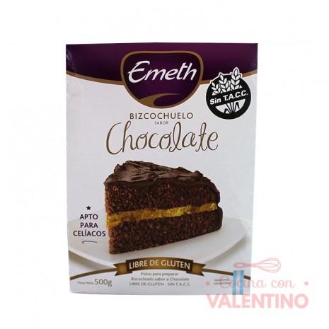 Premezcla Bizcochuelo de Chocolate Sin Tacc Emeth - 500Grs