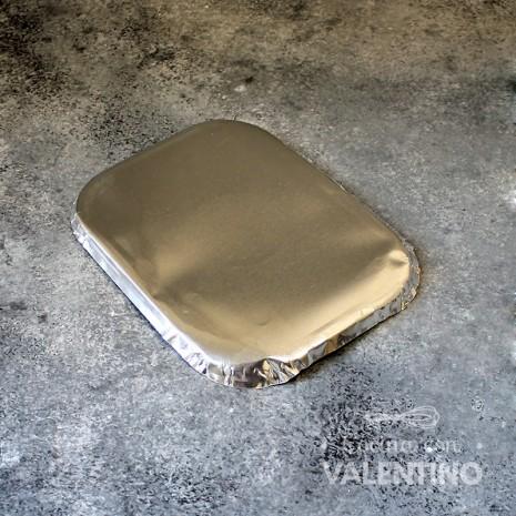 Tapa Bandeja Aluminio R/2 15x11cm - 1u