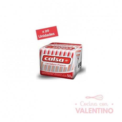 Levadura FrescaPrensada Calsa50 Grs. - Display 20 Un.