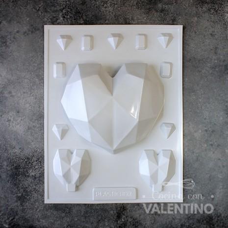 Placa Gaudi Corazón Diamantado 1837