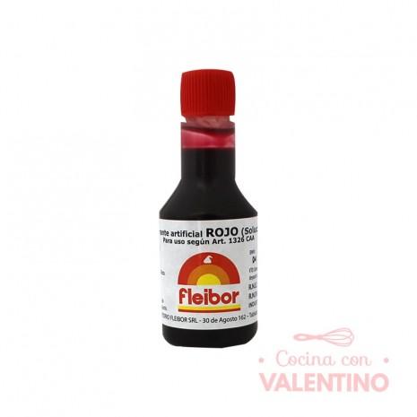 Colorante Fleibor Rojo - 30cc