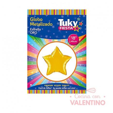 Globos Tuky Metalizados Estrellas 18¨ (45.5cm)