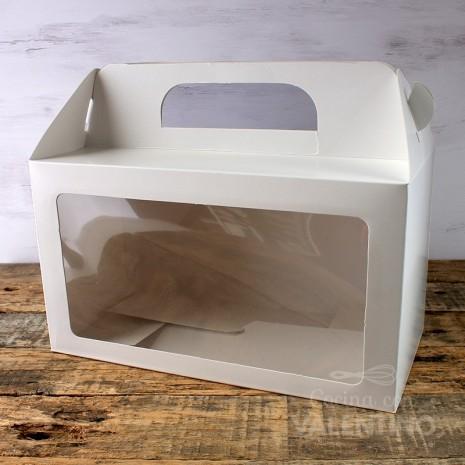 Caja Maletin Blanca con Visor 24x13x14