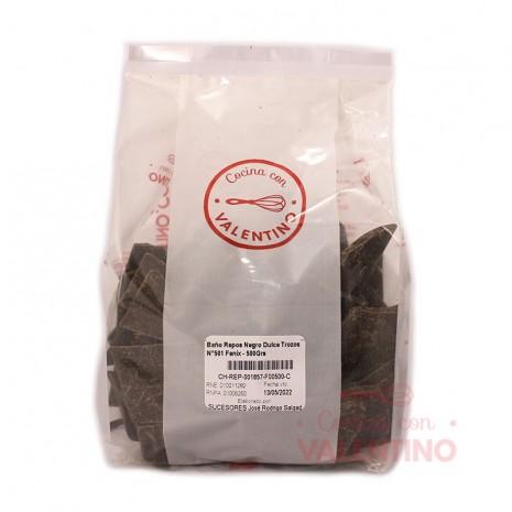 Baño de Reposteria Negro Dulce Trozos N°501 Fenix - 500Grs