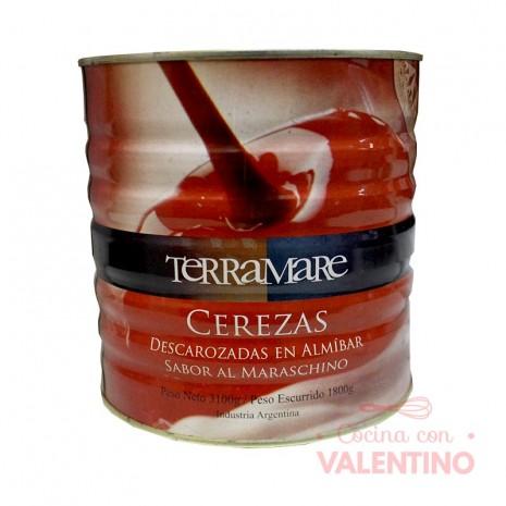 Cerezas Terramare Rojas Enteras Lata - 3.1 Kg.