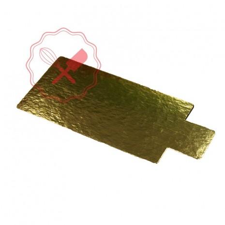 Disco Formato con Pestaña Oro/Plata - 12x6.5Cm