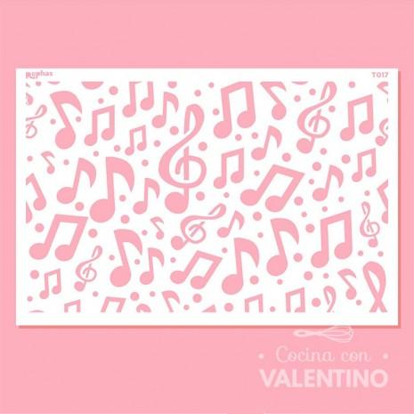 Stencil T017 Tortas Música Ruphas