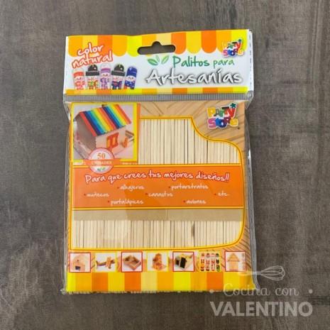 Palitos Para Artesanias Color Natural x 50 unidades