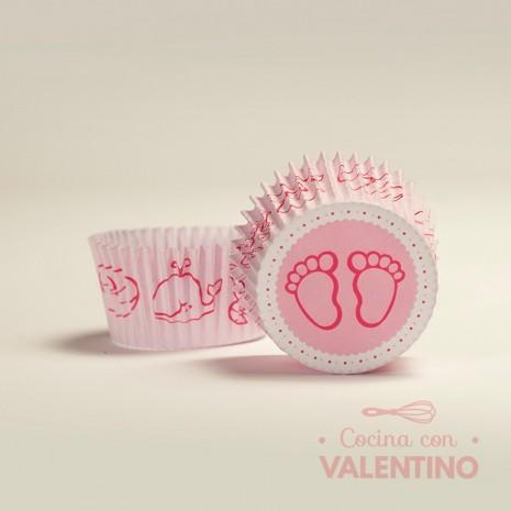 Pirotines N°8 Baby Shower - Piecitos Rosa - 15u. MoldPack