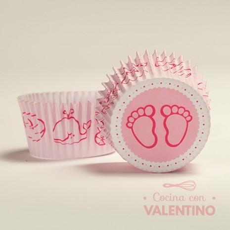 Pirotines N°10 Baby Shower - Piecitos Rosa - 15u. MoldPack