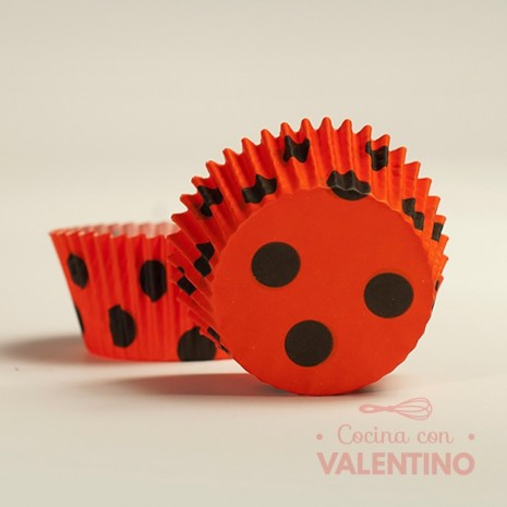 Pirotines N°10 Con Lunares Grandes - Rojo y Negro - 15u. MoldPack