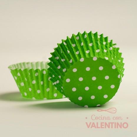 Pirotines N°10 Con Puntitos Blancos - Verde - 15u. MoldPack