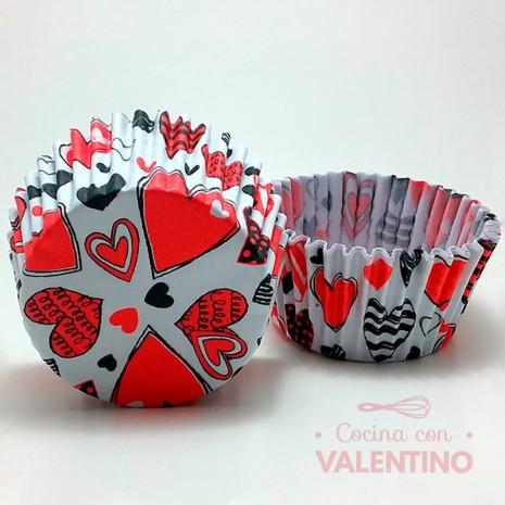 Pirotines N°10 Love Corazones - 15u. MoldPack