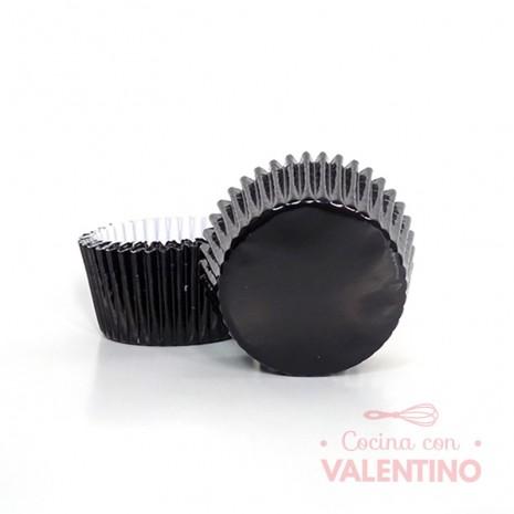 Pirotines N°10 Metalizado - Negro - 10u. MoldPack