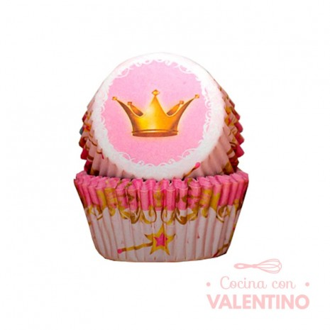 Pirotines N°10 Princesa Rosa - Corona - 25u. Convida