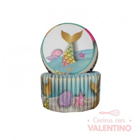 Pirotines N°10 Sirena dorada - Cola de sirena - 25u. Convida