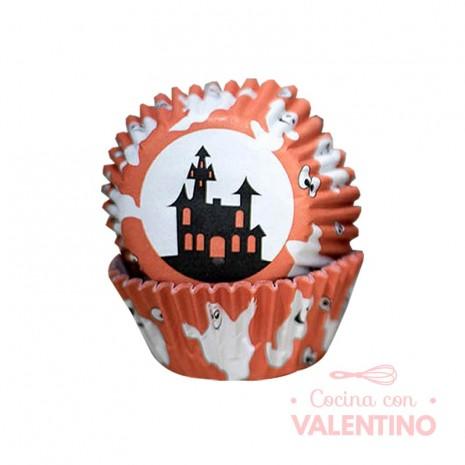 Pirotines N°10 Halloween - Casa Embrujada y Fantasmas Naranja - 25u. Convida