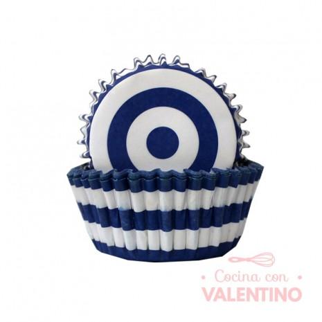 Pirotines N°10 Diana - Azul y blanco - 25u. Convida