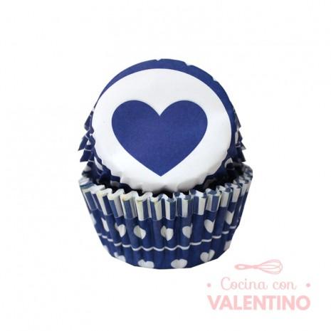Pirotines N°10 Corazón - Azul y blanco - 25u. Convida