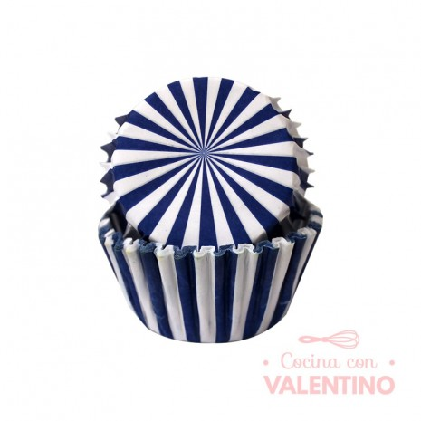 Pirotines N°10 Rayado - Azul - 25u. Convida