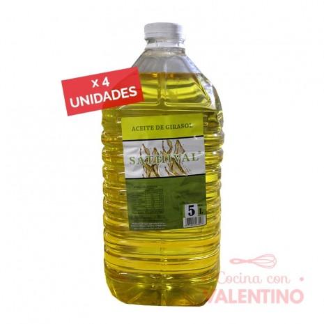 Aceite Girasol Sathival - 5Lts - Pack 4 Un.