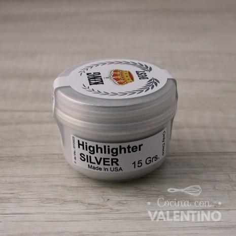 Colorante en Polvo Highlighter King Dust Silver - 15Grs