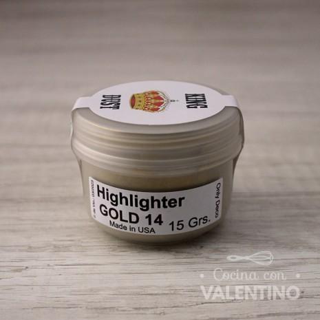Colorante en Polvo Highlighter King Dust Gold 14k - 15Grs