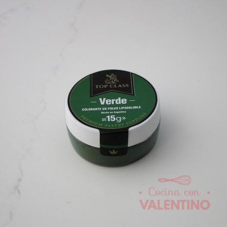 Colorante en Polvo Liposoluble Top Class Verde - 15Grs