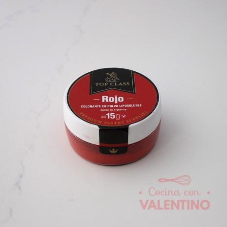Colorante en Polvo Liposoluble Top Class Rojo - 15Grs