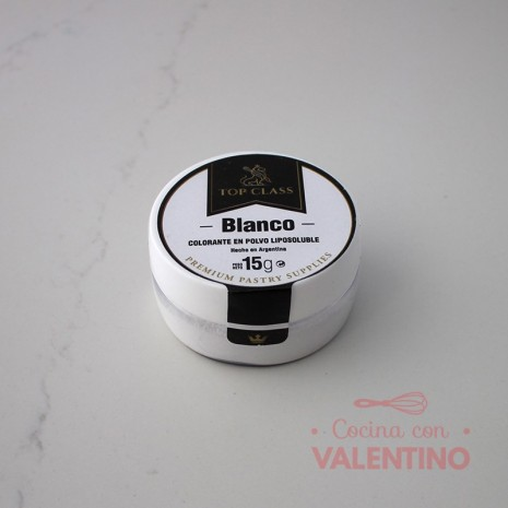 Colorante en Polvo Liposoluble Top Class Blanco - 15Grs