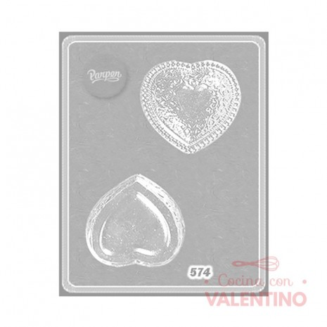 Placa Corazón Perlas Parpen 574