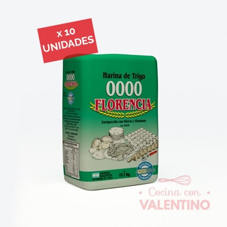 Harina 4/0 Florencia 1Kg - Pack 10 Un.