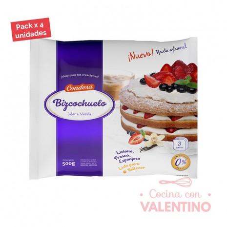Bizcochuelo Red. Capas Vainilla Condesa - 500Grs - Pack 4 Un.