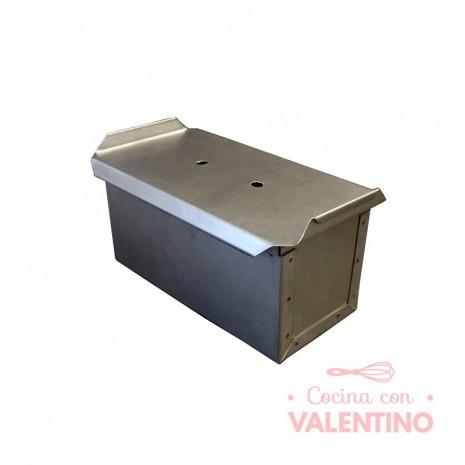 Molde Pan Lactal Acero Aluminizado 20x10x10cm Con Tapa