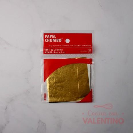 Papel Chumbo 8x8cm - Dorado