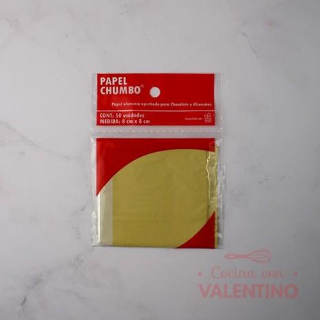 Papel Chumbo 8x8cm - Amarillo
