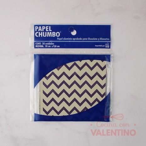 Papel Chumbo 10x10cm - Zigzag Violeta