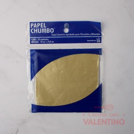 Papel Chumbo 10x10cm - Dorado Claro
