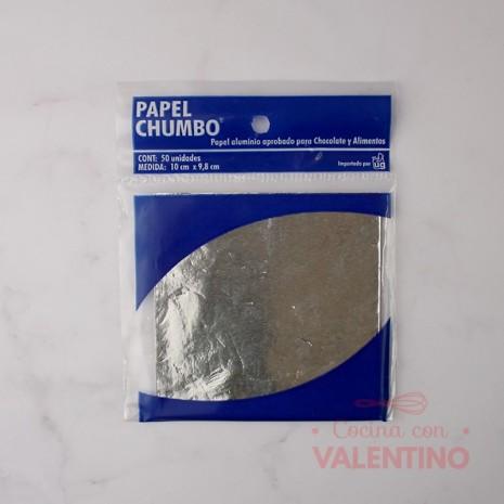 Papel Chumbo 10x10cm - Plata