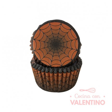 Pirotines N°10 Halloween - Telaraña naranja y negro - 25u. Convida