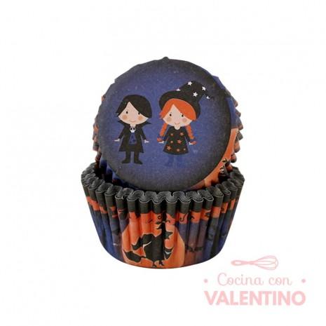 Pirotines N°10 Halloween - Niños disfrazados - Azul - 25u. Convida