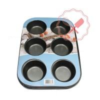 Molde Antiadherente Muffin 6u