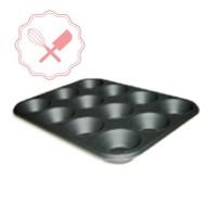 bandeja p/ 12 muffins aluminizada c/ teflón 44x32