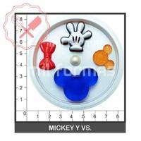 Molde Flexible Mickey y Vs.