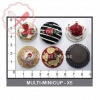 Molde Flexible Mini Cupcake x5