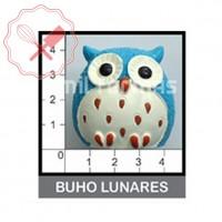 Molde Flexible  Buho Lunares