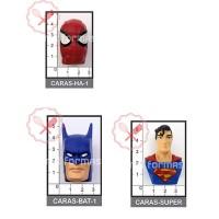 Molde Flexible Cara Batman/ Spiderman/ Superman