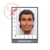 Molde Flexible Cara Ken (Novio Barbie)