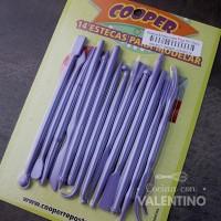 Esteca Artesanales Plas Nº1 Violeta 14U Cooper